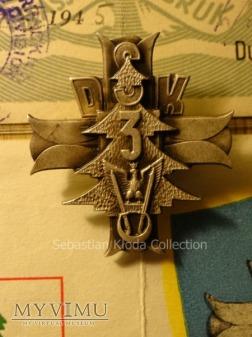 Odznaka pamiątkowa 3 DSK z legitymacją