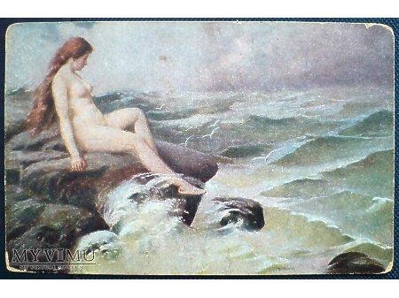 Królowa Czajek T. Kroll Naga dziewczyna na skale