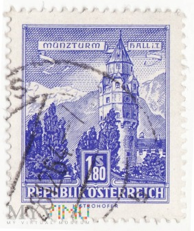 Austria 1960 Munzturm hall in Tirol