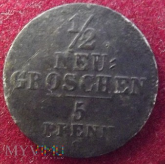 1/2 neu groschen 1842 G