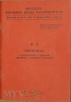1993 - R-3 Instrukcja w sprawach wypadków kol.