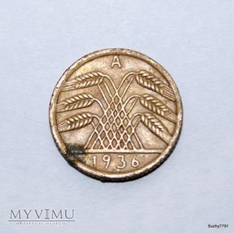 5 reichspfennig 1936 kłosy