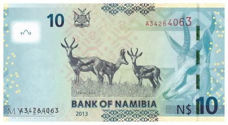 Namibia - 10 dolarów (2013)