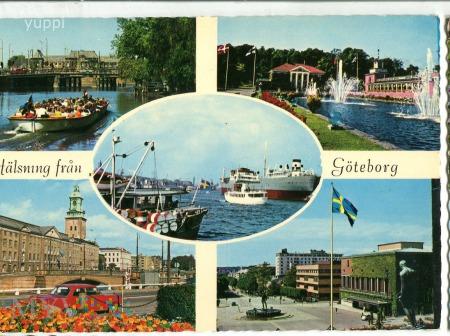 Göteborg, pozdrowienia, c. 1973 Szwecja