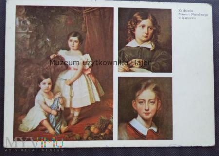 Grottger , Głowacki , Simmler - portrety dzieci
