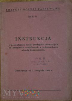 1960 - Nr R1b Instrukcja ruchu poc. towarowych