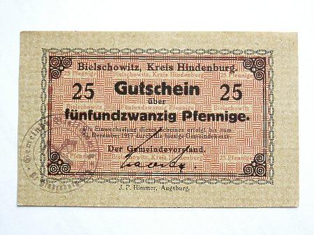 Bielszowice- Pieniądz zastępczy 25 Pf