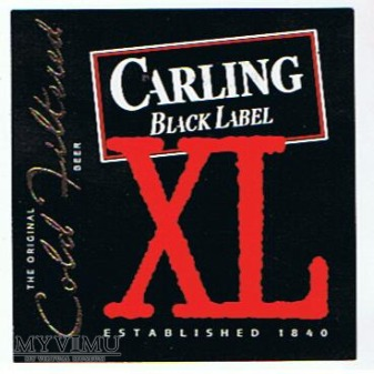 CARLING -black label xl