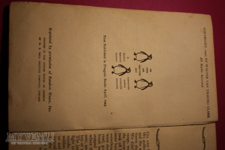 "Książka ""The ox-bow incident"" 1943 r."