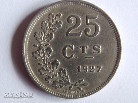 25 CENTIMÓW 1927-LUKSEMBURG