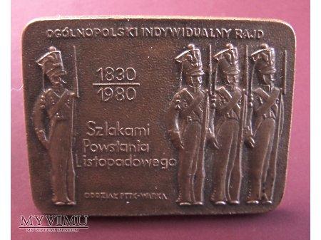 Znaczek PTTK - Szlakami Powstania Listopadowego.