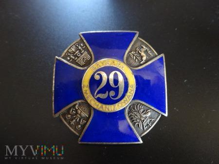 Numerowana Odznaka 29 Szczecińskiej Brygady Zmech