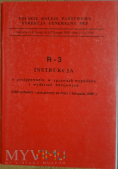 2000 - R - 3 Instrukcja w sprawach wypadków kol.