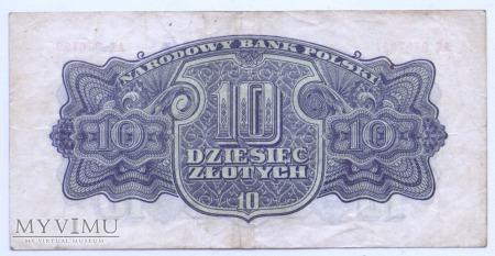 """10 złotych - 1944 (""""obowiązkowym"""")"""