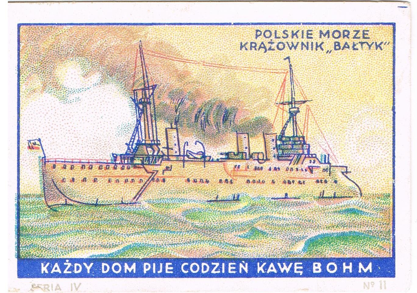 Krążownik Bałtyk. Kawa Bohm