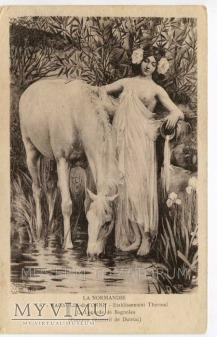 Dutriac - Normandia - Akt z koniem