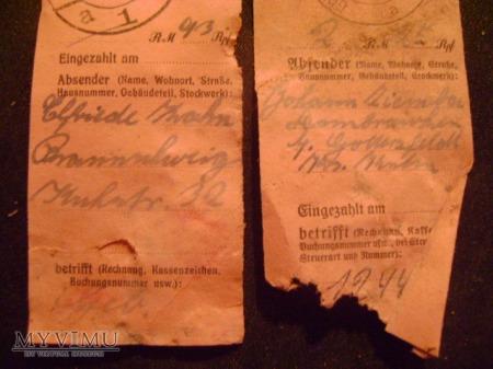 niemieckie dowody wpłat