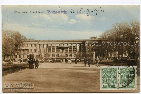 W-wa - Ogród Saski - Fontanna - 1900-1910