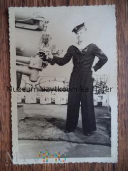 Krążownik ORP Conrad marynarz działo PSZ Zachodzie