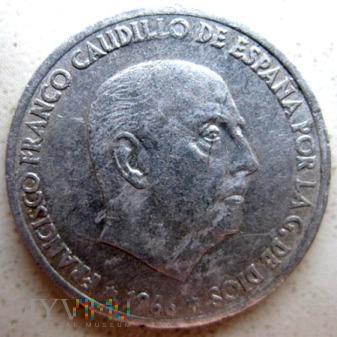 50 centymów 1966 r. Hiszpania