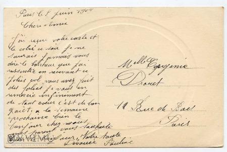 Pocztówka okolicznościowa 1909