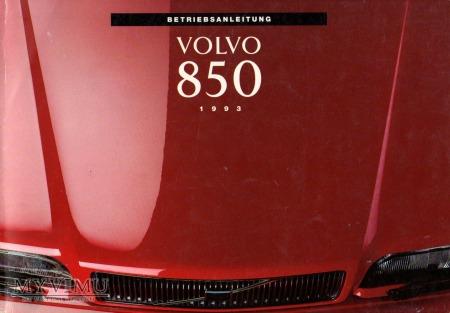VOLVO 850. Instrukcja obsługi z 1993 r.