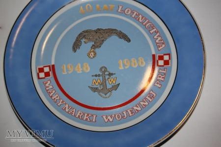 Talerz pamiątkowy 40 Lat Lotnictwa MW PRL