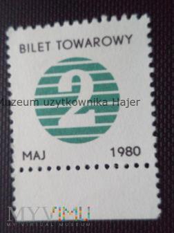 1980 maj - kartka na cukier