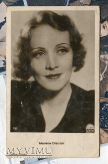 Marlene Dietrich Polonia Kraków pocztówka 16
