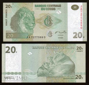 Congo - P 94 - 20 Francs - 2003