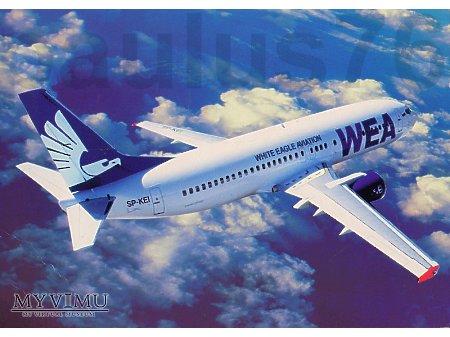 Boeing 737-4K5, SP-KEI, WEA