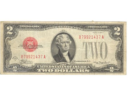 2 USD 1928 UNITED STATES NOTE