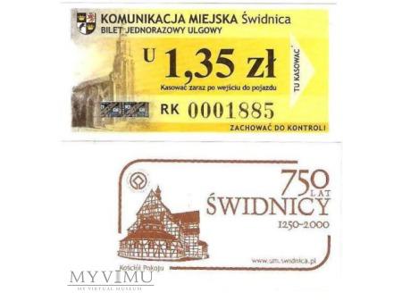 Bilet komunikacji miejskiej ze Świdnicy