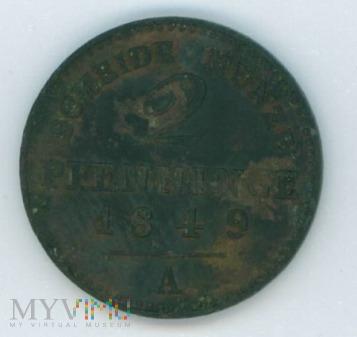 2 fenigi- Prusy- 1849
