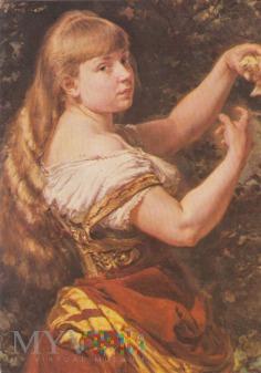 Portret córki z kanarkiem