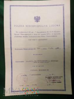 MIANOWANIE SIERŻANTA SZTABOWEGO MO. 1985 ROK