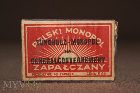 Zapałki Zündholz - Monopol im Generalgouvernement