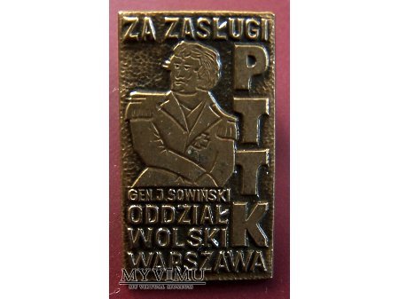 Znaczek PTTK za zasługi - gen. Sowiński.