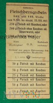 Fleischbezugschein Schlesien - kartka mięsna Śląsk