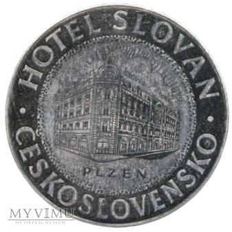 """Duże zdjęcie Czechosłowacja - Plzen - Hotel """"Slovan"""""""
