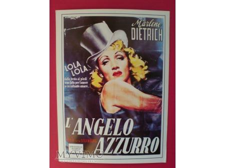 Marlene Dietrich Błękitny Anioł Plakat