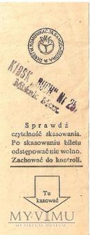 PKS bilet ze stemplem kiosku Ruch-u