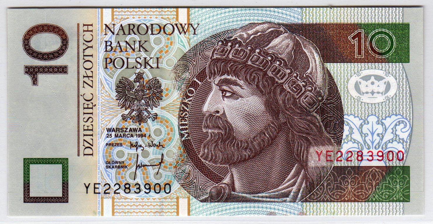 Banknot dziesięciozłotowy