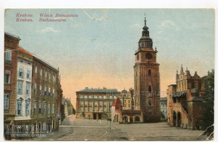 Kraków - Rynek - Ratusz - 1915