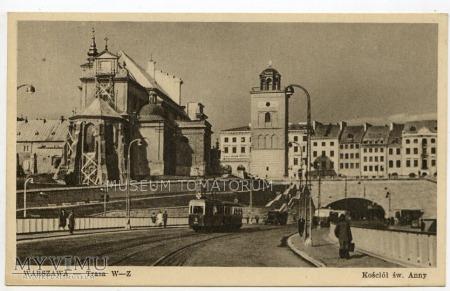 Warszawa - Trasa W-Z (Tunel od wschod) - 1950b ok.