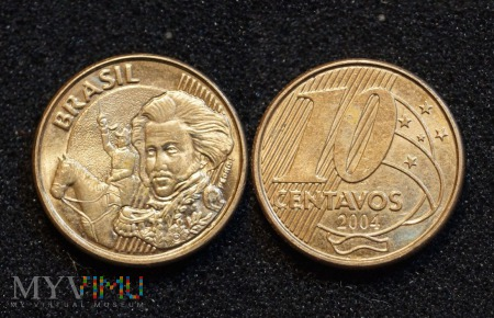 Brazylia, 10 centavos 2004