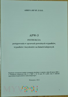 2012 - APW-3 Instrukcja o wypadkach kol. ARRIVA