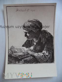 Rembrandt -Lesendes Mädchen