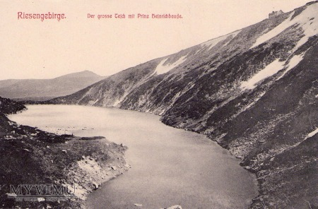 Riesengebirge. Der grosse Teich mit Prinz Heinrric