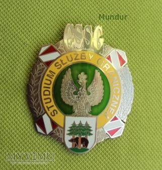 Odznaka absolwenta Studium Służby Granicznej CSSG